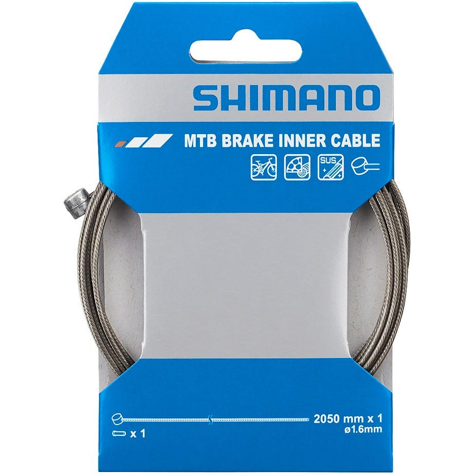 Shimano Spares MTB XTR stainless steel inner brake wire,1.6 x 2050 mm, single