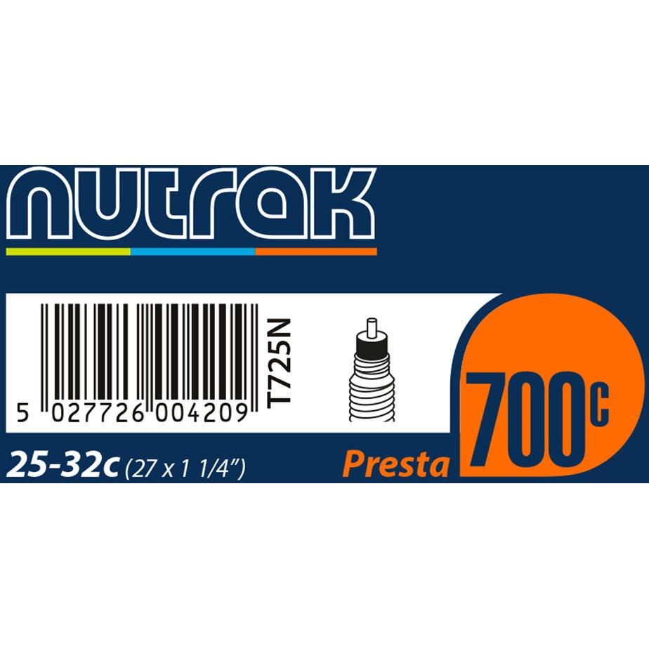 Nutrak 700 x 25 - 32C (27 x 1-1/4 inch) Presta inner tube