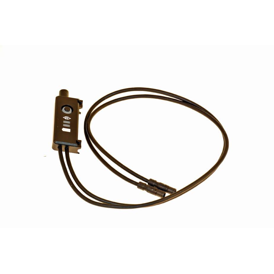 Shimano Non-Series Di2 SM-EW67A-E E-tube Di2 junction for drop handlebar STI, with integrated wires