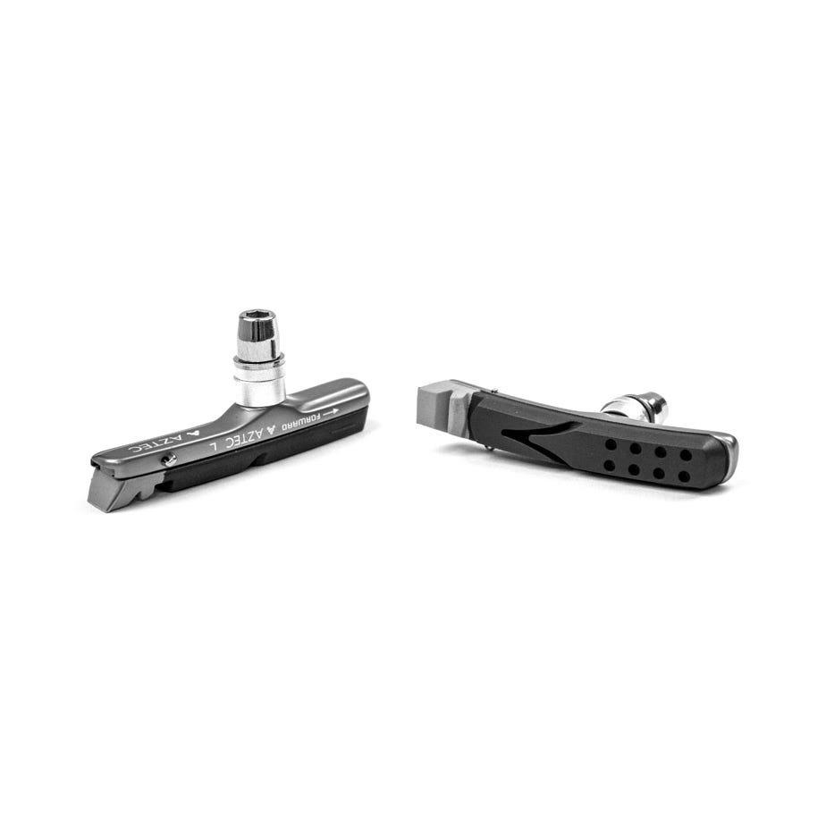 Aztec V-type cartridge system Kevlar Plus brake blocks with rim rake