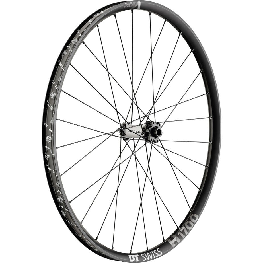 DT Swiss H 1700 Hybrid wheel, 30 mm rim, 15 x 110 m BOOST axle, 27.5 inch front