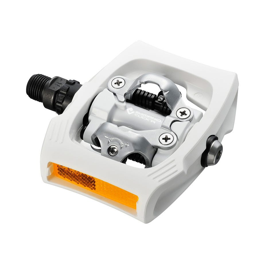 Shimano Pedals PD-T400 CLICK'R pedal, Pop-up mechanism, white