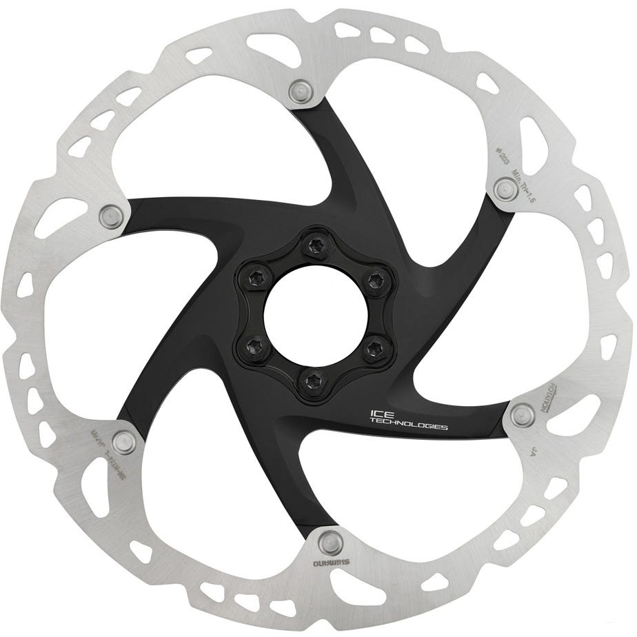 Shimano Deore XT SM-RT86 XT Ice Tec 6-bolt disc rotor, 203 mm