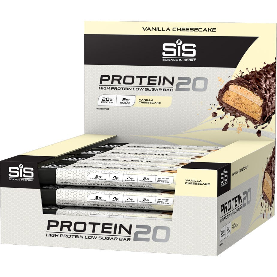 Science In Sport Protein20 high protein bar - vanilla cheesecake - 55g bar - box of 12