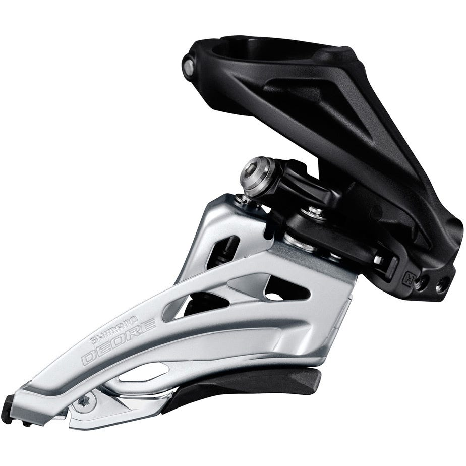 Shimano Deore Deore M617-H double front derailleur, high clamp, side swing, front pull