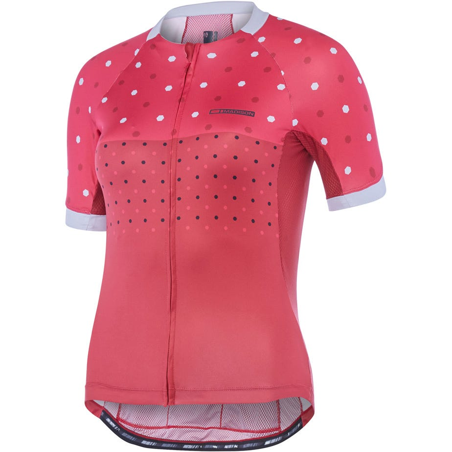 Madison Sportive Apex women's short sleeve jersey, hex dots
