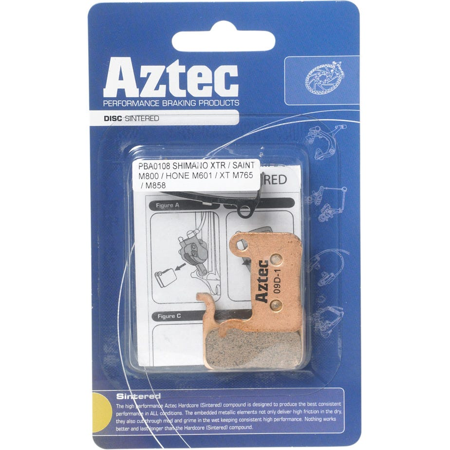 Aztec Organic disc brake pads for Shimano M965 XTR / M966 callipers