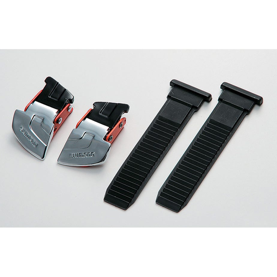 Shimano Spares M310 / R310 buckle and strap set, silver / red