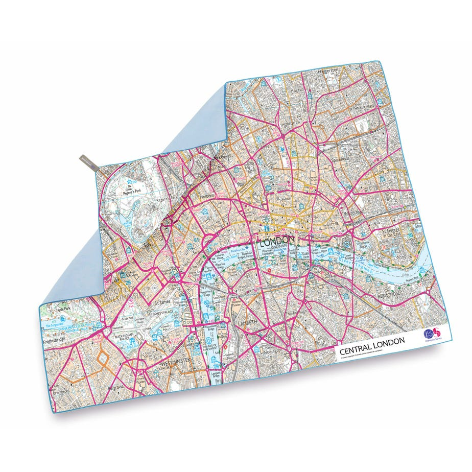 Lifeventure SoftFibre OS Map Towel - Giant - Central London