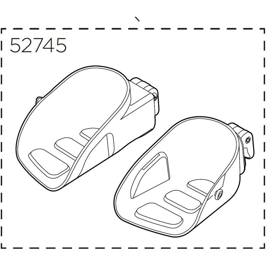 Thule Yepp Maxi Footrests, left & right