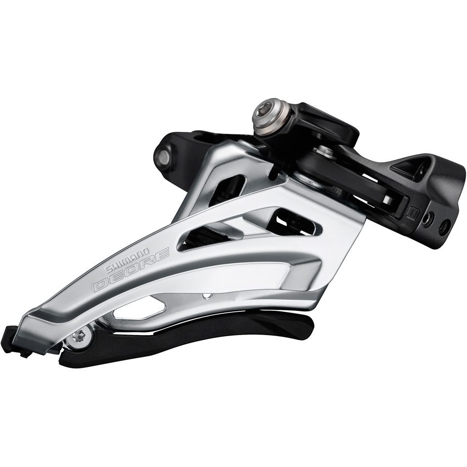 Shimano Deore Deore M6000-L triple front derailleur, low clamp, side swing, front pull
