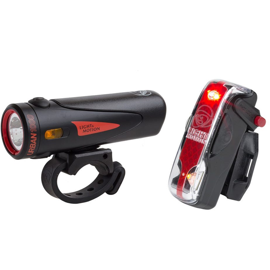 Light and Motion Urban 1000 Black / Black + Vis 180 Pro light twinpack