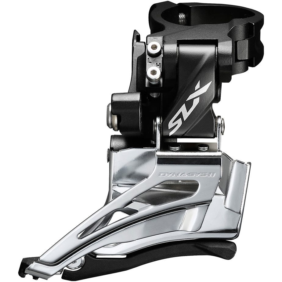Shimano SLX SLX M7025-H double 11-speed front derailleur, high clamp, down swing, dual-pull