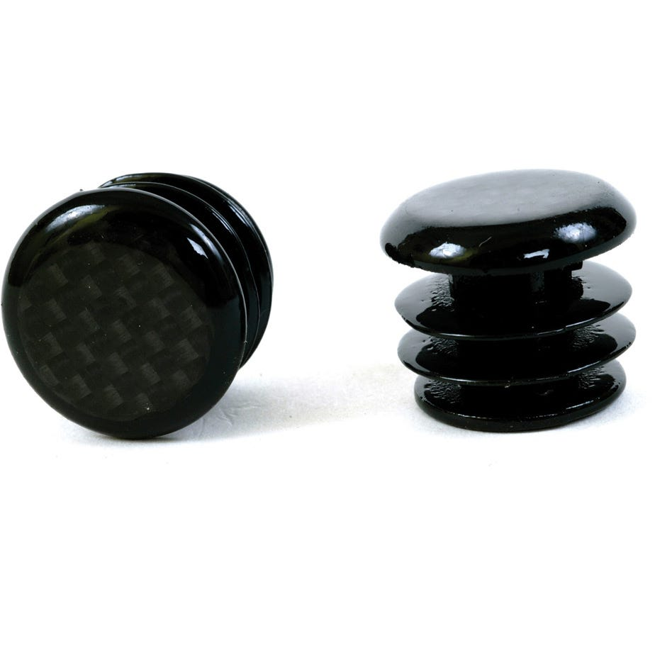 M Part Carbon fibre look bar end plugs for Road bikes