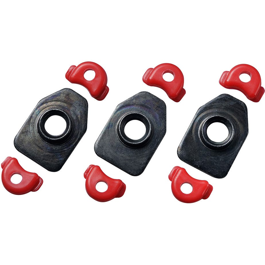 Shimano Spares Cleat nut set, RC9, set for one shoe