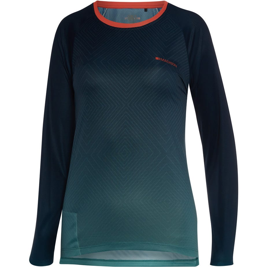 Madison Flux Enduro women's long sleeve jersey, diamonds