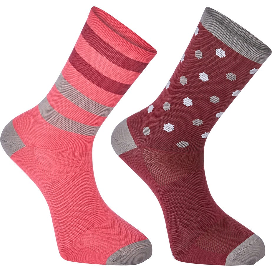 Madison Sportive long sock twin pack, hex dots