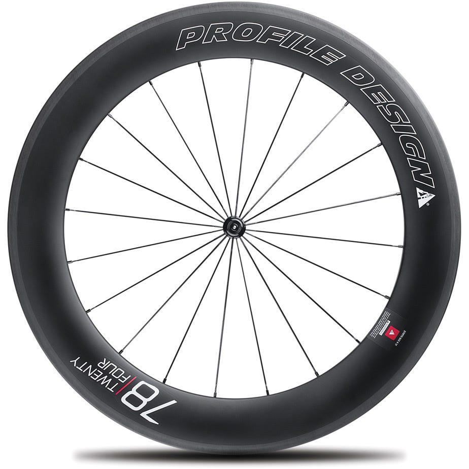 Profile Design 78 Twenty Four Full Carbon Clincher Wheel - Front