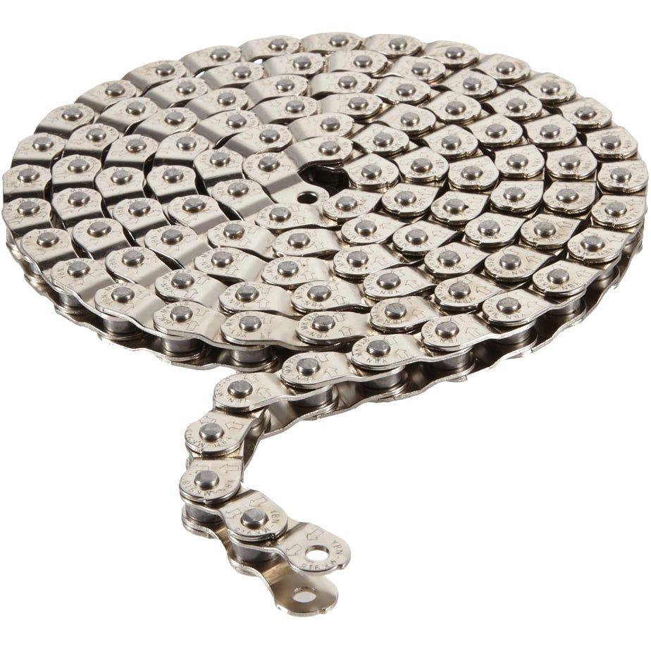 Arcane Pitch 102 half link chain 1/2 x 1/8 inch silver 102 links