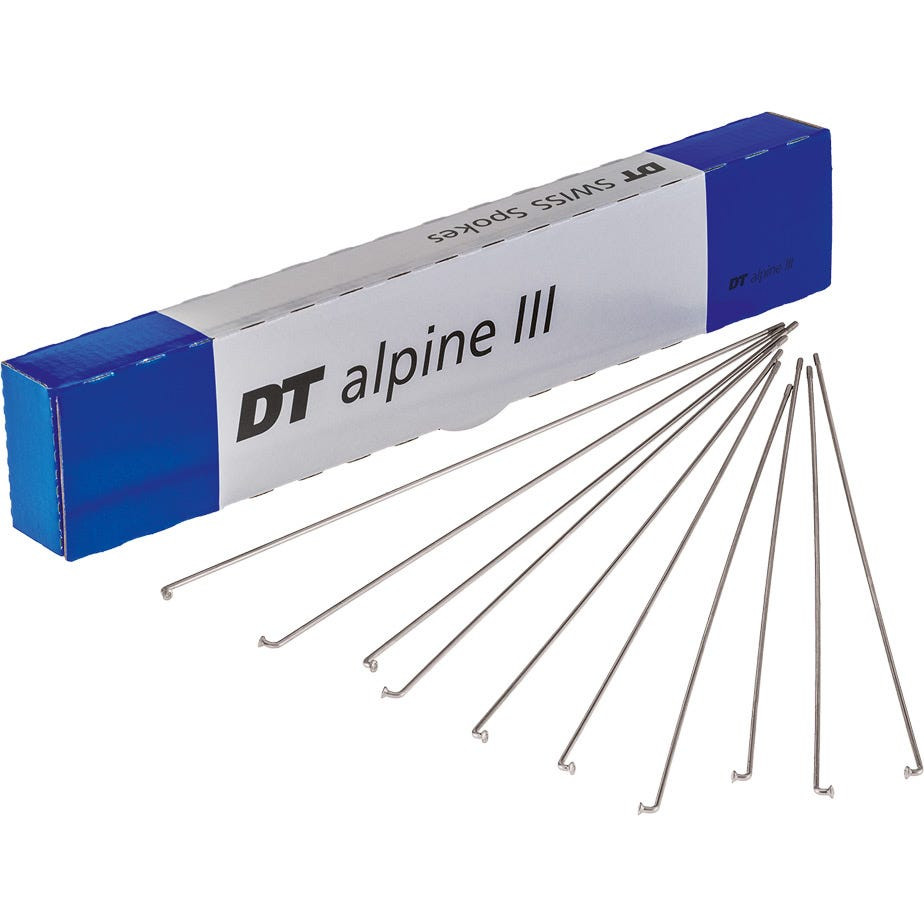 DT Swiss Alpine III silver spokes 13 / 15 / 14 g = 2.34 / 1.8 / 2 mm box 100