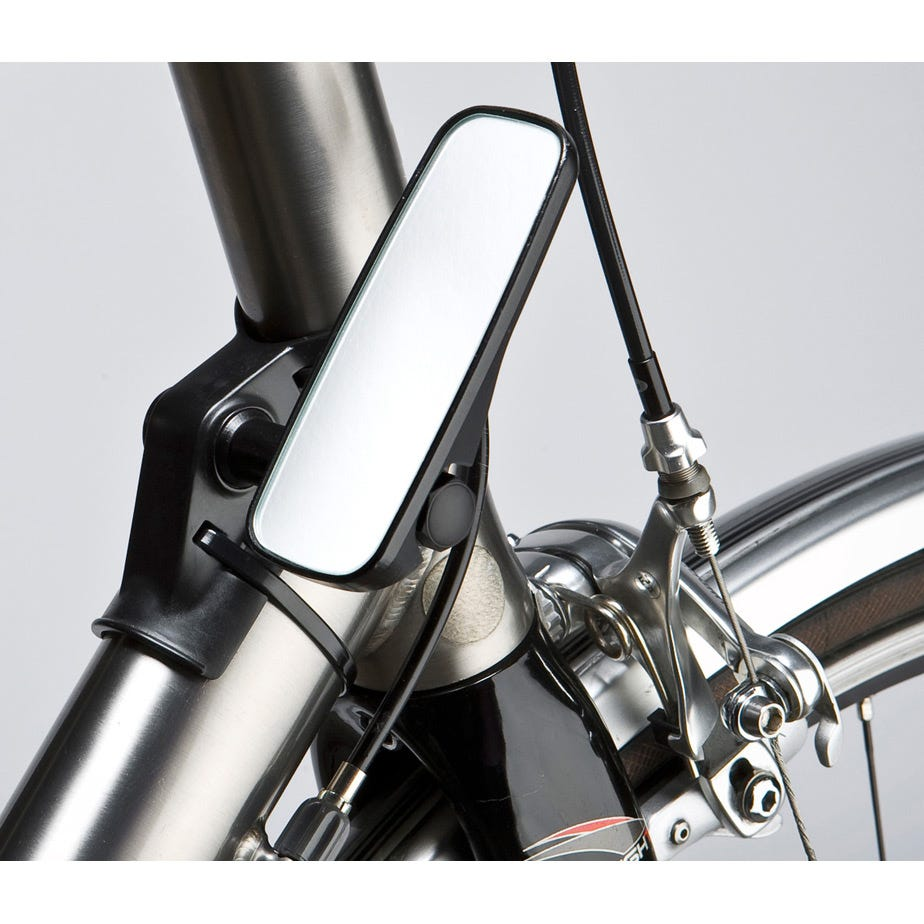M Part Adjustable mirror for head tube fitment, black