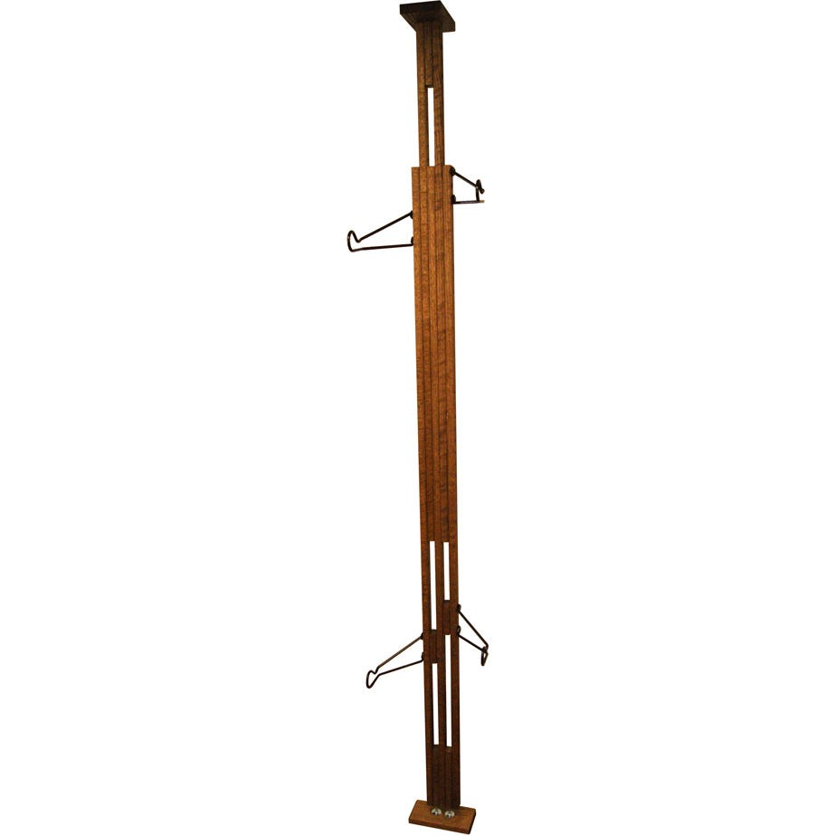 Gear Up OakRak Floor-to-Ceiling 2 / 4-bike rack - Walnut