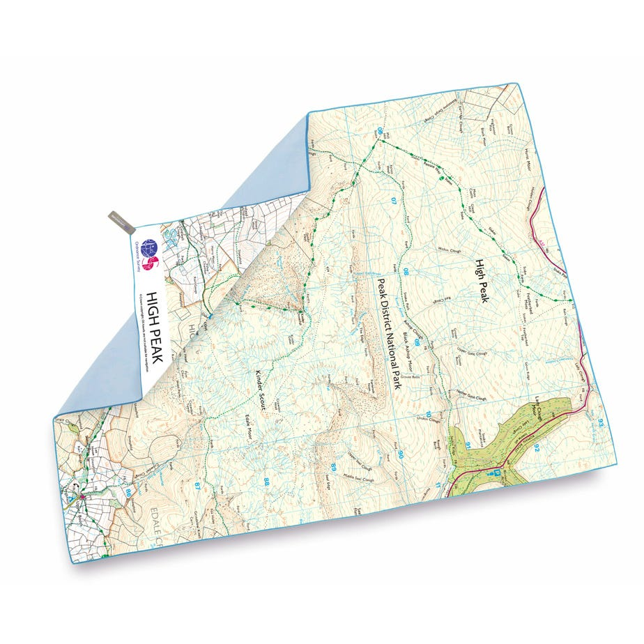 Lifeventure SoftFibre OS Map Towel - Giant - High Peak