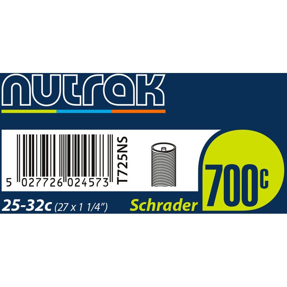 Nutrak 700 x 25 - 32C (27 x 1-1/4 inch) Schrader inner tube