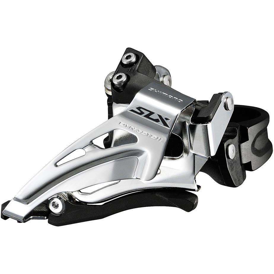 Shimano SLX SLX M7025-L double 11-speed front derailleur, low clamp, top swing, down-pull