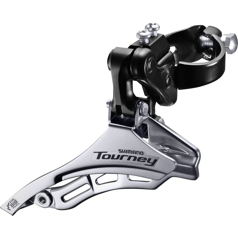 Shimano Tourney / TY FD-TY300 Tourney 6/7 speed triple front derailleur, top pull, 28.6 mm, for 42T