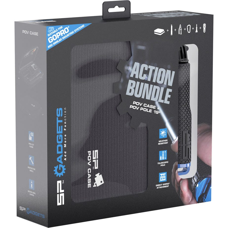 "SP Gadgets Action Bundle - POV Case & POV Pole 19"" For Action Cameras"
