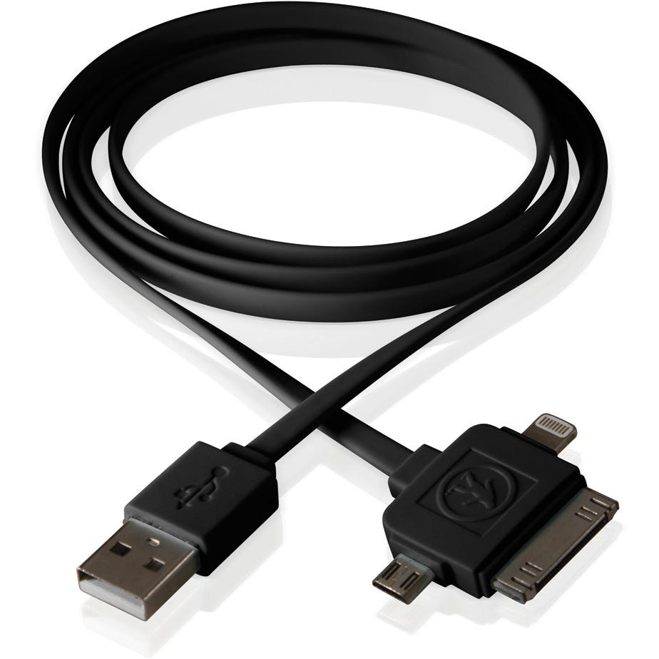 Outdoor Tech Calamari 3 in1 Charge Cable - Black