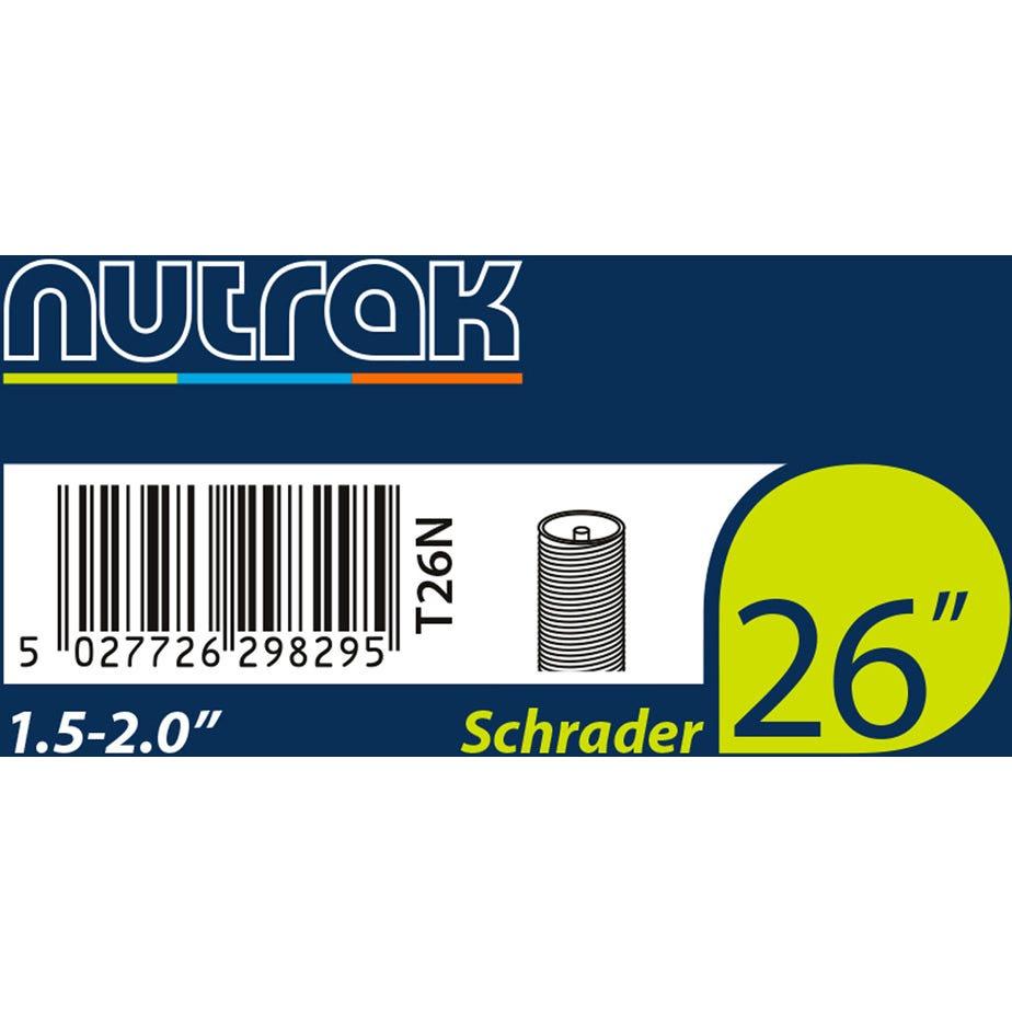 Nutrak 26 x 1.5 - 2.0 inch Schrader inner tube