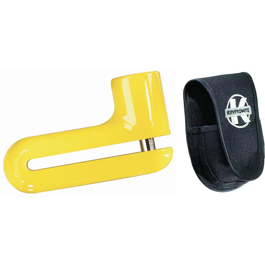 Kryptonite Kryptolok Dfs-10 Disc Lock - Yellow With Pouch