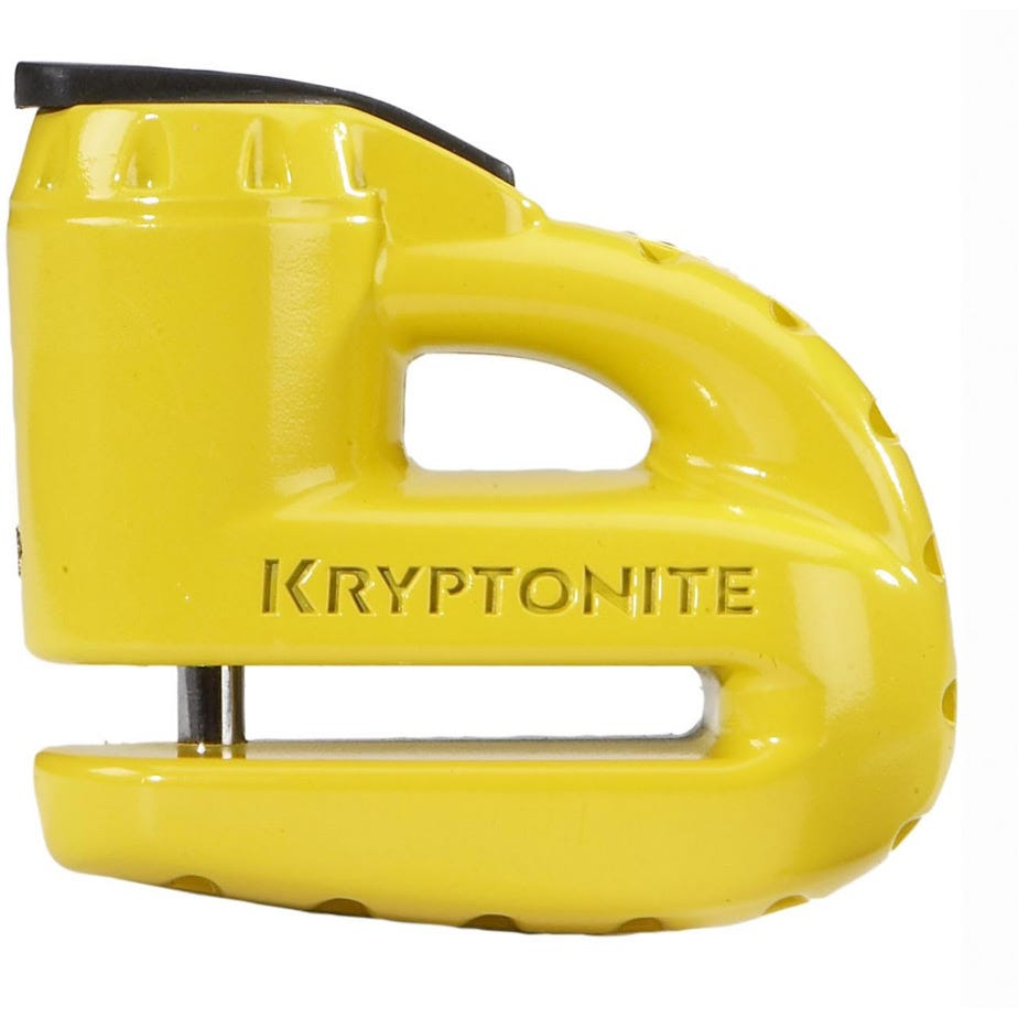 Kryptonite Keeper 5-S Disc Lock - With Reminder Cable - Yellow