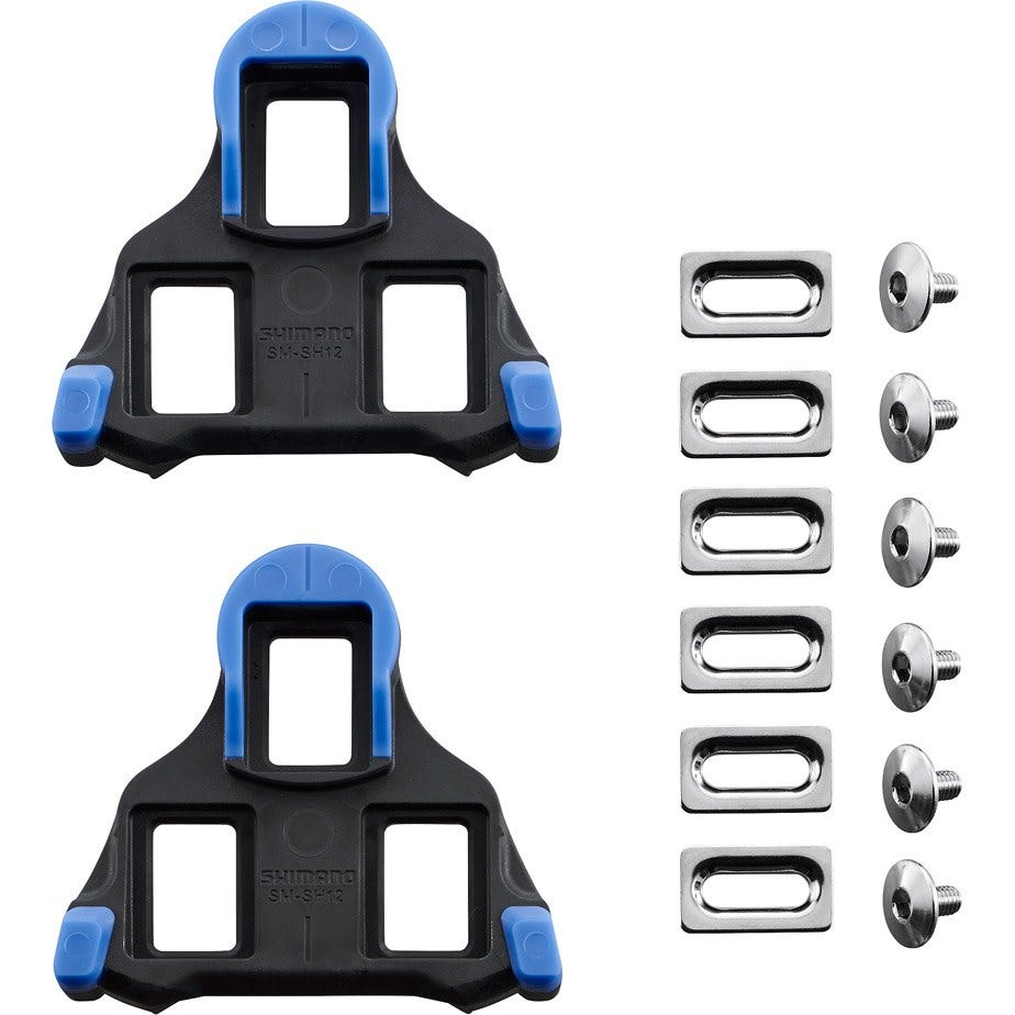 Shimano Spares SM-SH12 SPD SL-Cleats , Front Pivot Floating , Blue