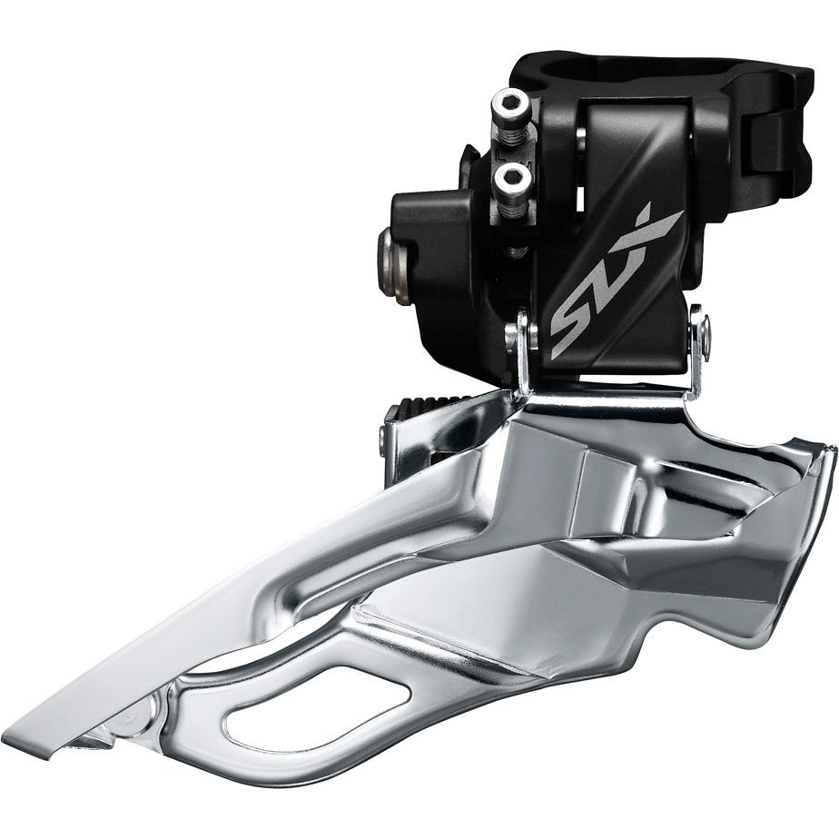 Shimano SLX SLX M7005-H triple 10-speed front derailleur, high clamp, down swing, dual-pull