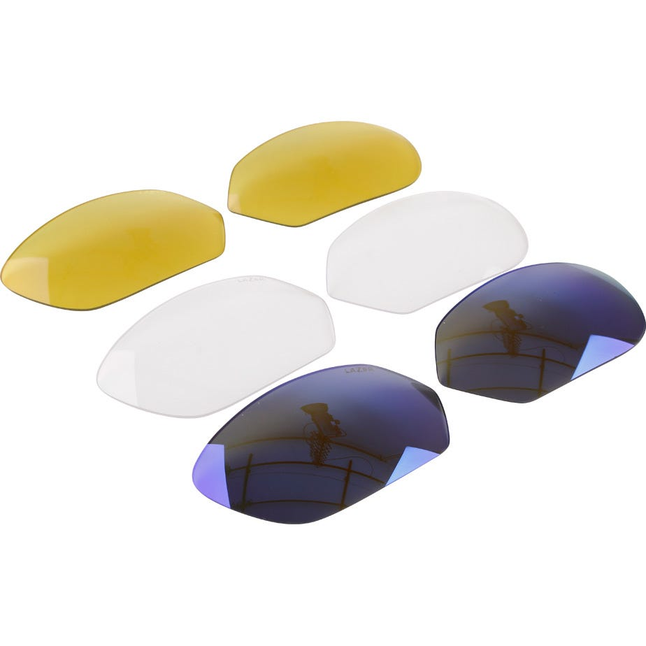Lazer M1 blue lens for use with metal nose piecekit