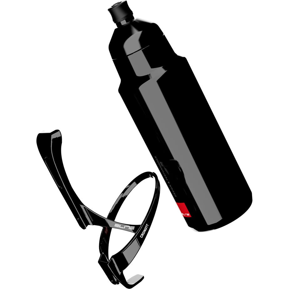 Elite Crono TT Aero Bottle Kit Includes Carbon Cage & 400 ml Aero Bottle