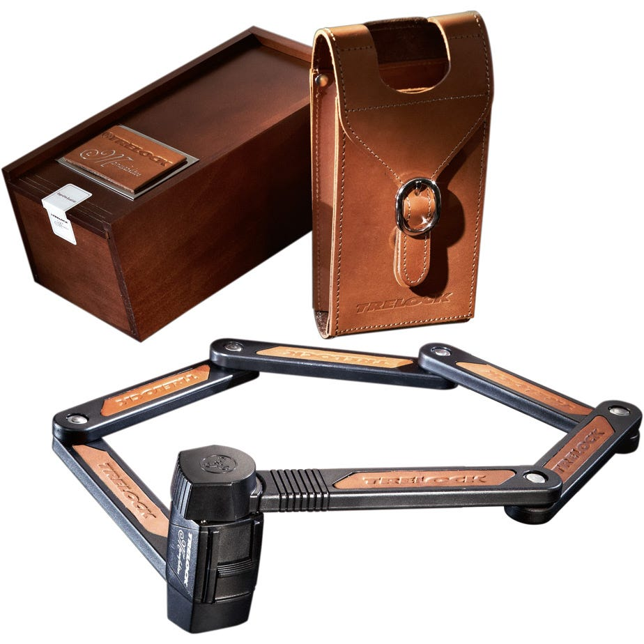 Trelock Folding Lock FS450 85cm Manufaktur Sold Secure Silver
