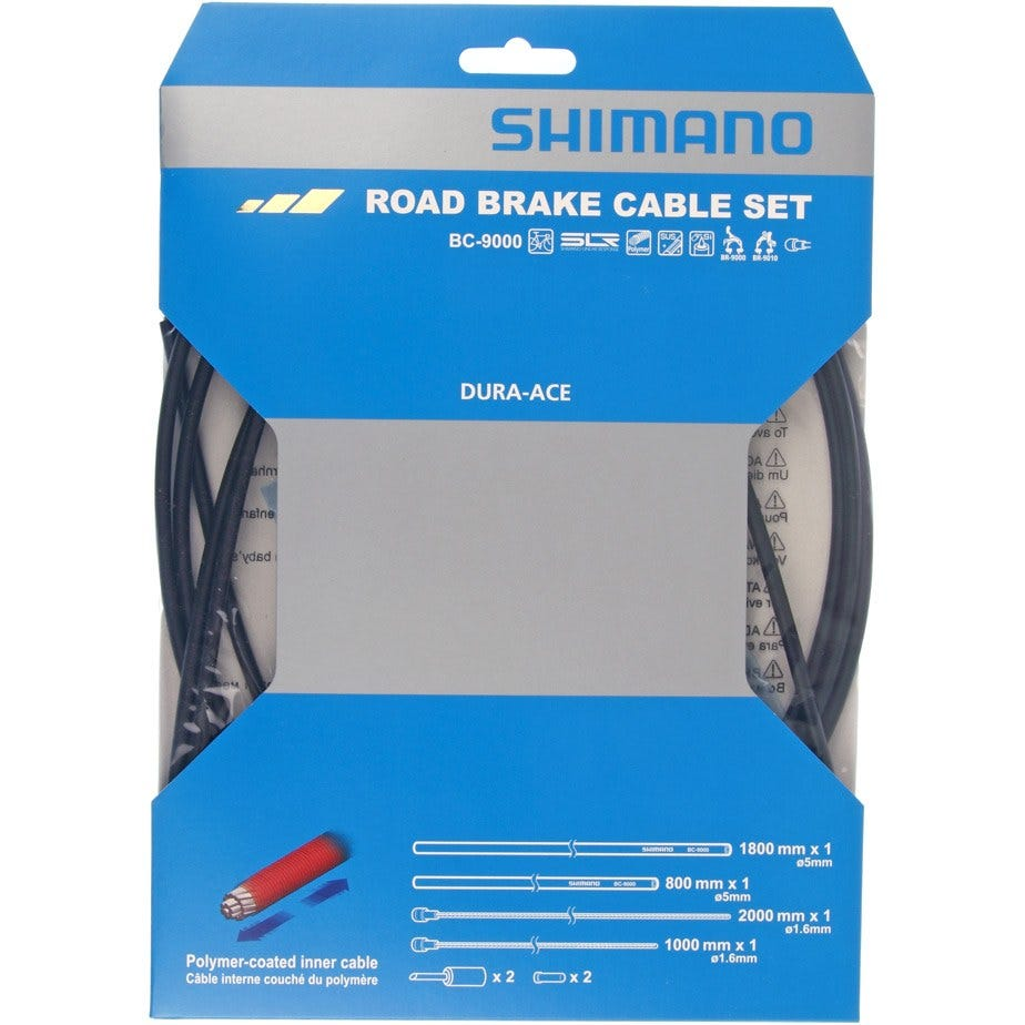 Shimano Spares Dura-Ace 9000 Road brake cable set, Polymer coated inners