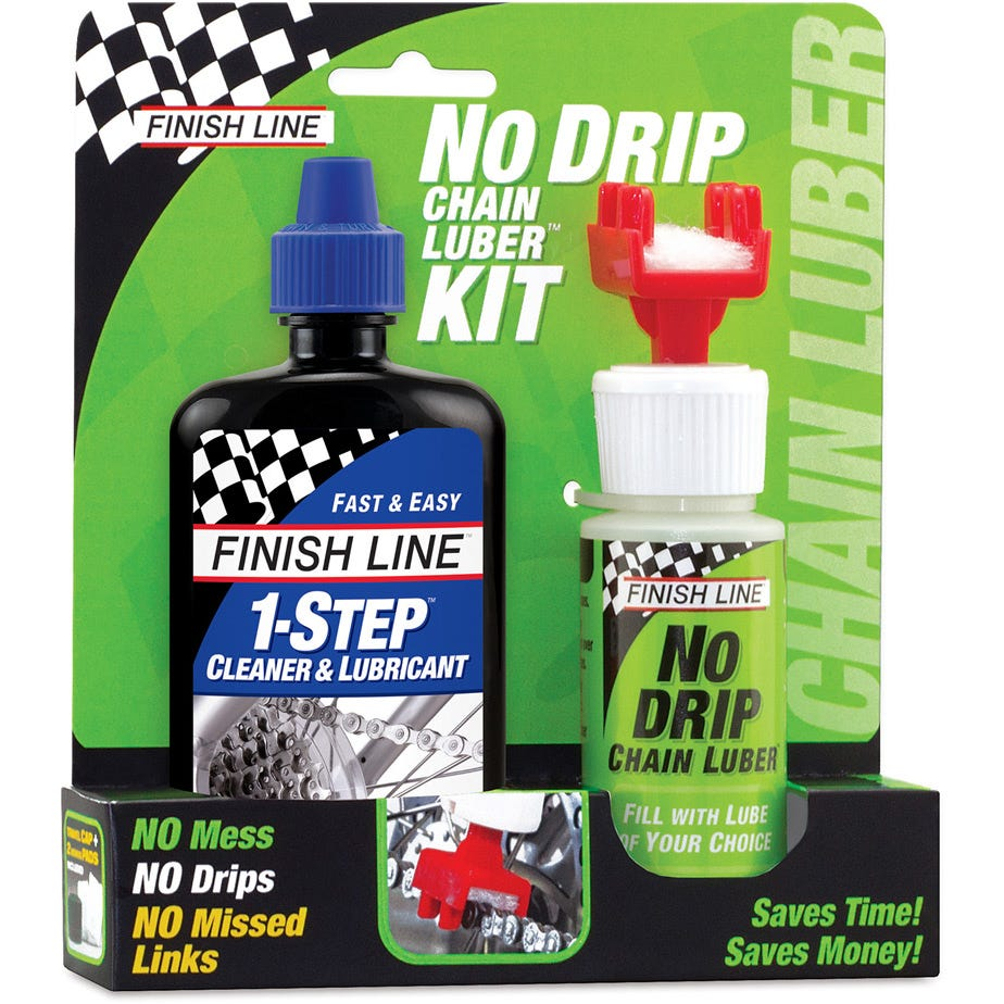 Finish Line No Drip Chain Luber Combo (4oz 1-Step + No Drip Chain Luber)