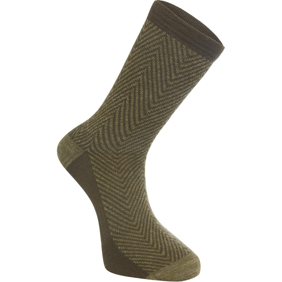 Madison Assynt merino long sock, herringbone