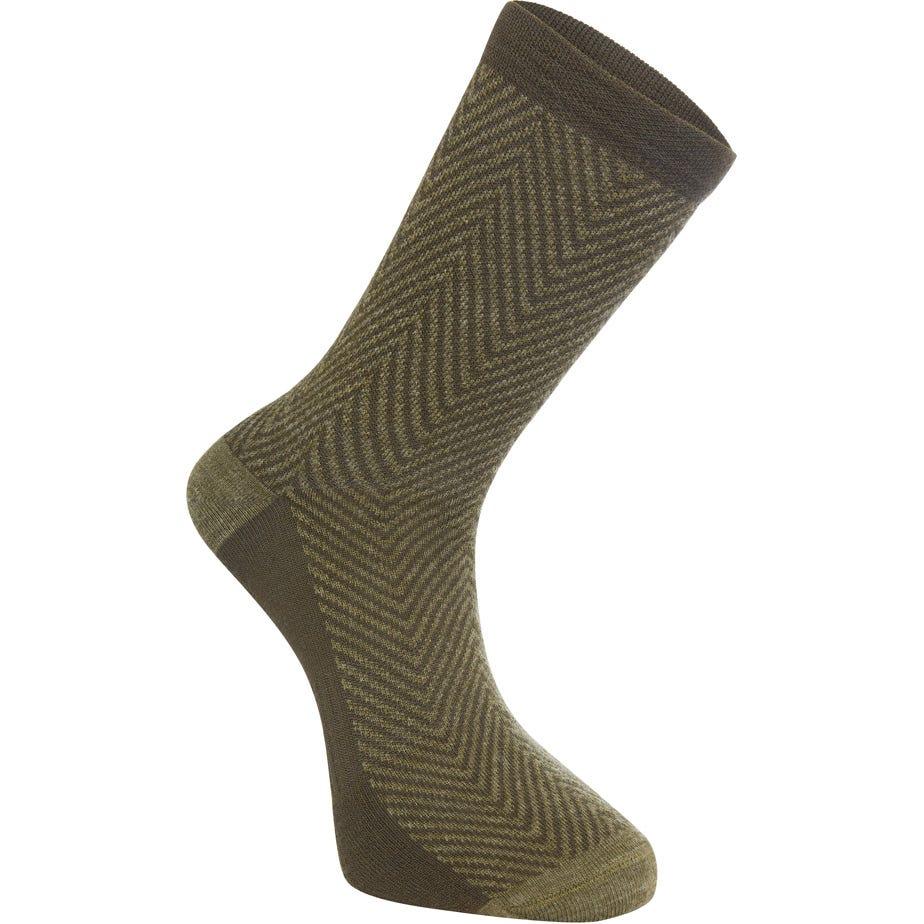 Madison Assynt merino long sock, herringbone