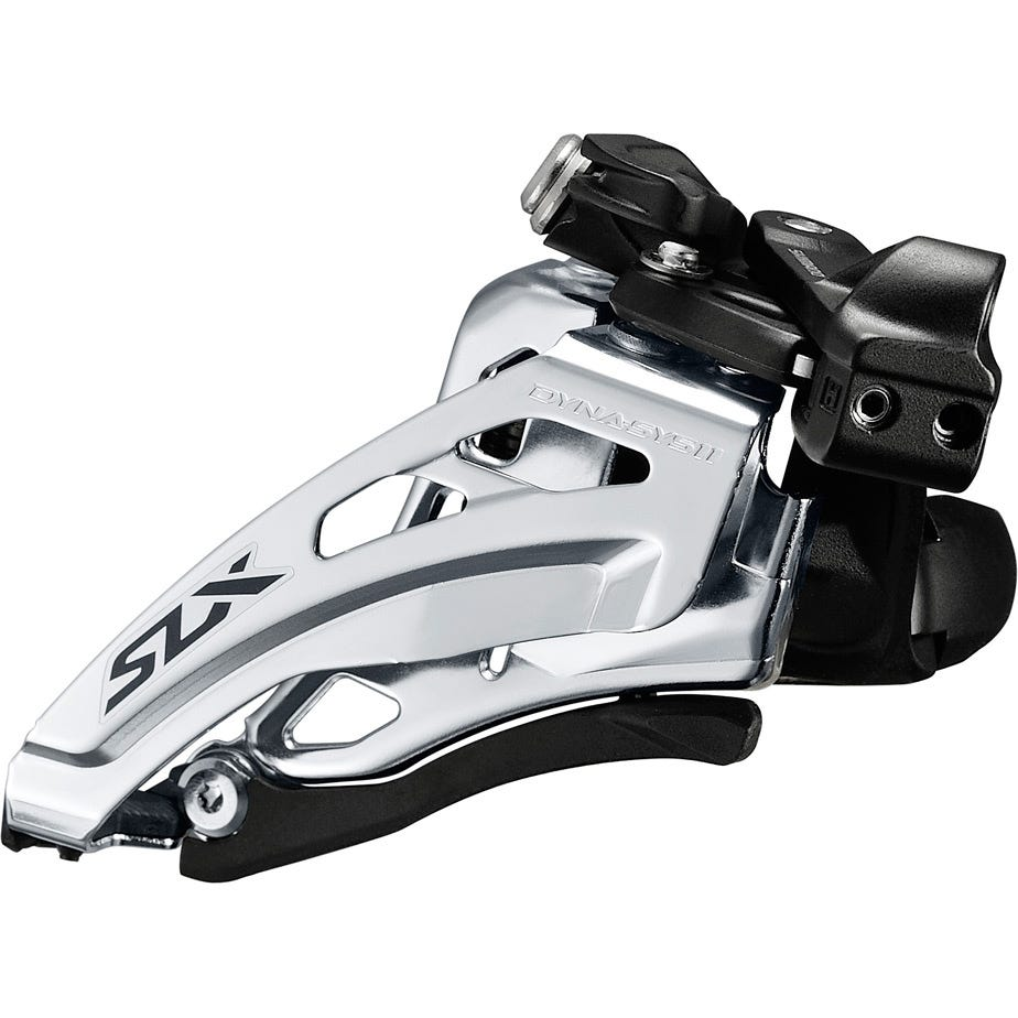 Shimano SLX SLX M7020-L double 11-speed front derailleur, low clamp, side swing, front-pull