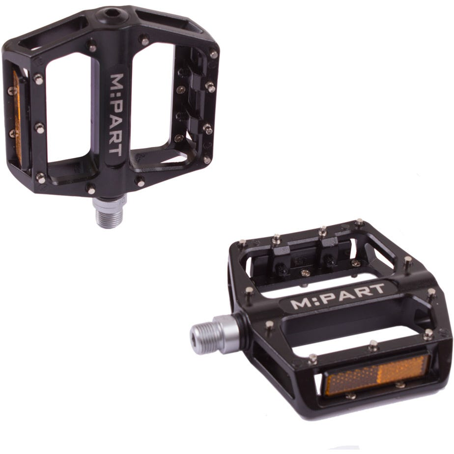 M Part Flat pedals, sealed bearings replaceable pins 9/16