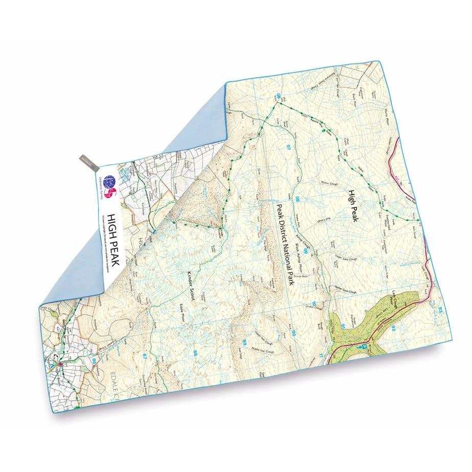 Lifeventure SoftFibre OS Map Towel - Giant - High Peak