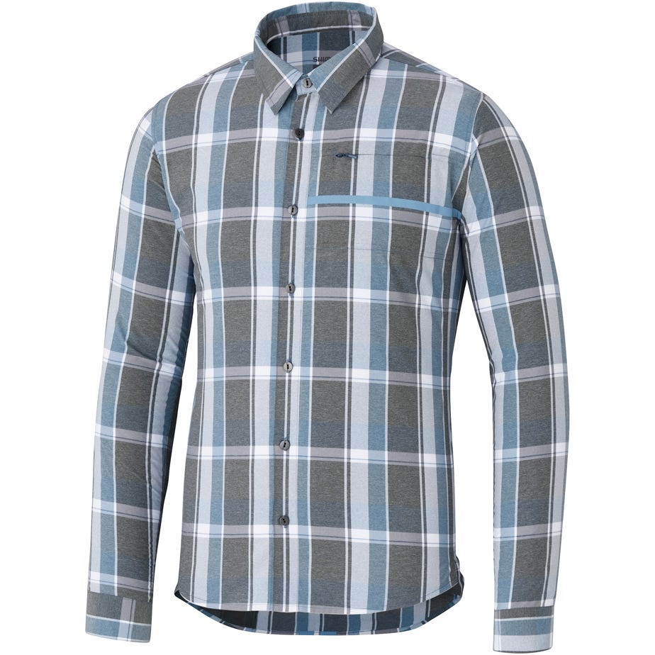 Shimano Clothing Men's Transit Check Button Up Shirt
