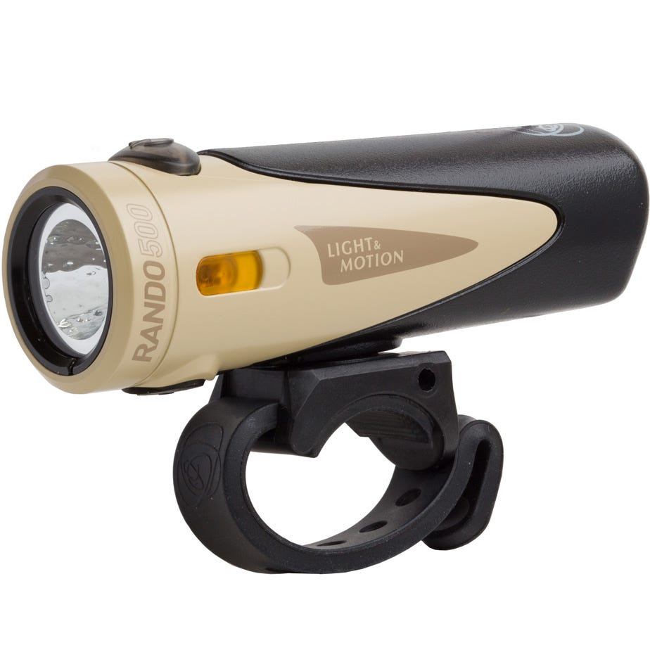 Light and Motion Rando 500 - Tan / Black light system