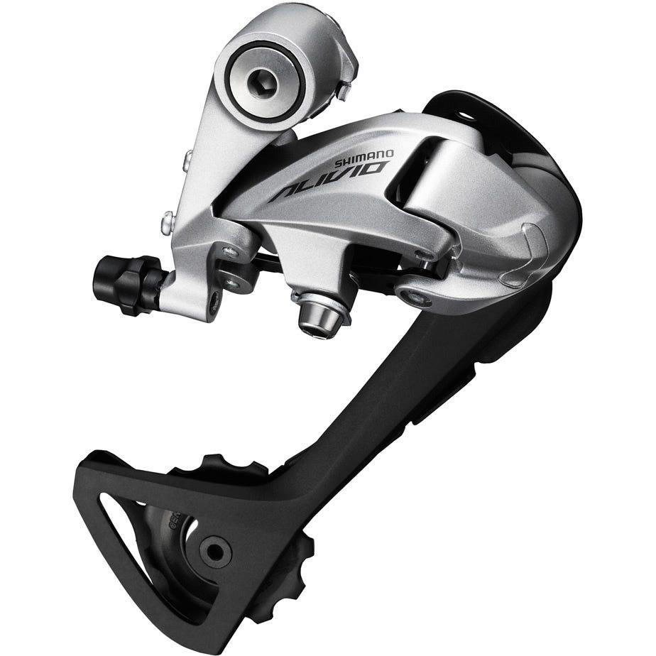 Shimano Alivio RD-T4000 Alivio 9-speed rear derailleur, SGS, top normal, silver